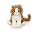 ganz lil'kinz striped alley plush cat-small