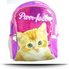 Buy Cat Kitten Pink School Backpack 16 Inch