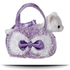 Buy Fancy Pals Lavender Curly Plush Toy Pet