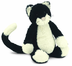 jellycat bashful black white kitten heavily