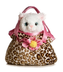 aurora plush pretty kitty fancy purse